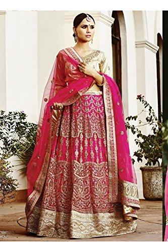 PCC Indian Women Designer Wedding pink Lehenga Choli K-4883-43366
