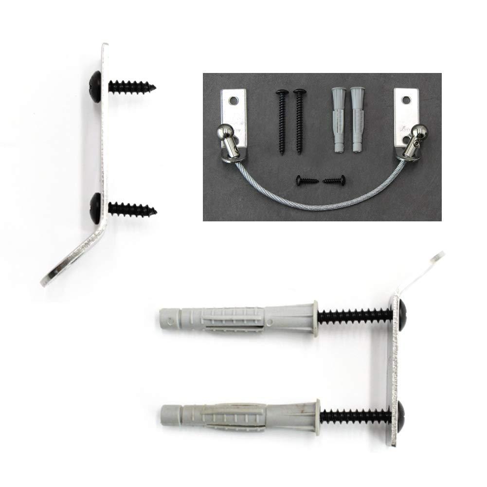 pernos y herramientas incluidos Correas para muebles con anclaje de acero inoxidable para muebles de seguridad y protecci/ón de mascotas