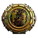 """Ebros Gift Steampunk Pressure Chamber with Painted Clockwork and Gearwork Decorative Wall Clock Figurine 11"""" H Time Clocks Home Decor Accessory Victorian Science Fiction Sci Fi Halloween Time Prop 7"""