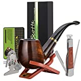 Scotte Tobacco Smoking Pipe,Leather Tobacco Pipe