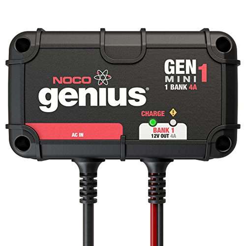 NOCO Genius GENM1 4 Amp 1-Bank Waterproof Smart On-Board Battery Charger