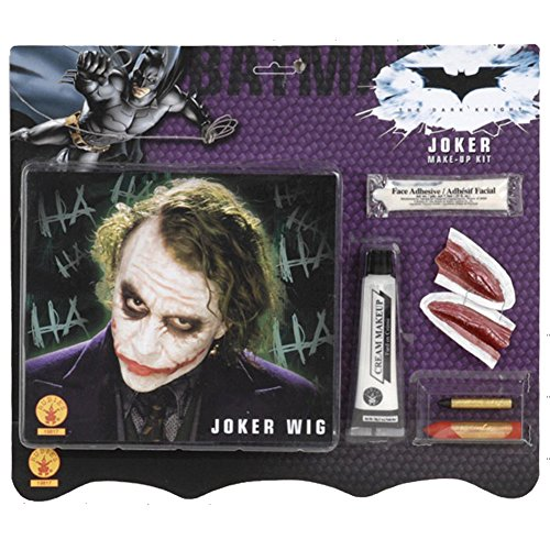 [The Joker Deluxe Wig and Makeup Kit] (Joker Costume Makeup)
