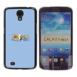 CASEX Cases / Samsung Galaxy Mega 6.3 I9200 SGH-i527 / Pencil Grinder # / Delgado Negro Plástico caso cubierta Shell Armor Funda Case Cover Slim Armor Defender