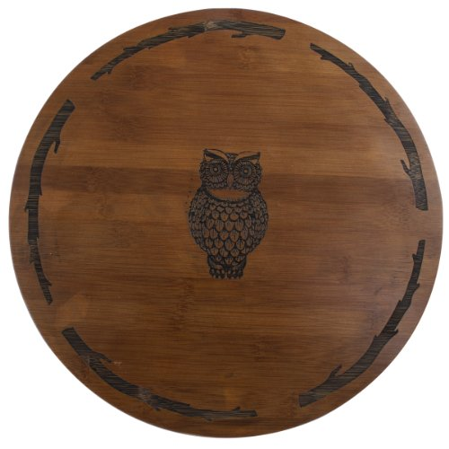 Thirstystone Bamboo Lazy Susan, Owl