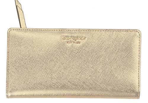 Kate Spade New York Wellesley Printed Stacy (Metallic Blush) (Best Kate Spade Wallet)