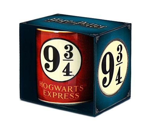 Harry Potter - Taza de porcelana (8 x 8 x 9,5 cm), color rojo
