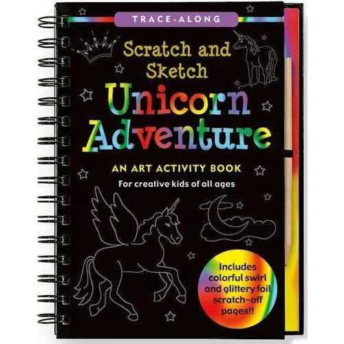 Unicorn Adventure Scratch and Sketch: An Art Activity Book for Creative Kids of All Ages                                Hardcover-spiral                                                                                                                                                                                – July 7 2013
