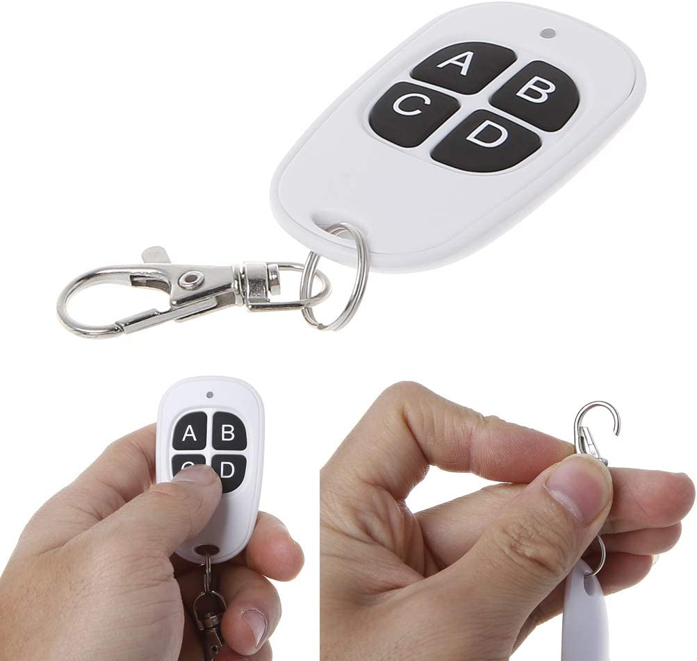 huiouer Copy Remote Control 433MHz 315MHz Cloning Duplicator Wireless 4 Silicone Keys Universal Waterproof Handle Garage Gate Electric Door