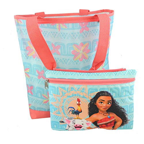 te Bag with Removable Insulated Pouch (Blue) (Girl Tote Bag)