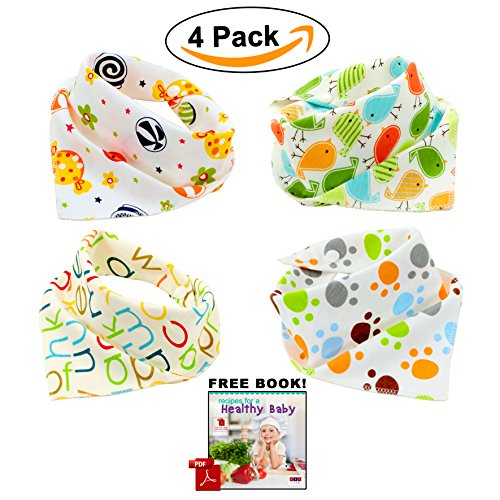Bandana Bibs by ABI Kids - 100% Cotton baby bibs - Stylish bandana baby bibs Unisex Anti-Smell Anti-Bacterial Bibs - Quick Dry Avoids Drool Rash with Nickel-Free Snaps Best for Sensitive Skin Buy Now (Stylish Bandana)