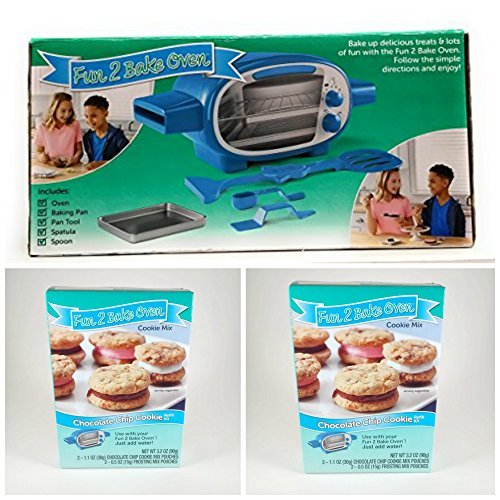 HOLIDAY BUNDLE !! FUN 2 BAKE ULTIMATE OVEN WITH 2 PACK CHOCOLATE CHIP COOKIE MIX by Generic (Image #1)