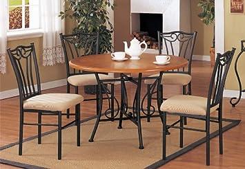 Amazon.com - 5pcRoundDiningTableSet - Table & Chair Sets