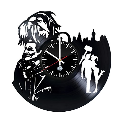 Family Bank Robber Costume - HARLEY QUINN AND JOKER MAD LOVE Vinyl Record Wall Clock - Get unique wall clock - Best gift