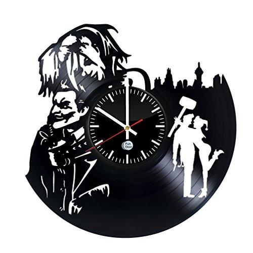 Costume Joker Nicholson The Jack (HARLEY QUINN AND JOKER MAD LOVE Vinyl Record Wall Clock - Get unique wall clock - Best)