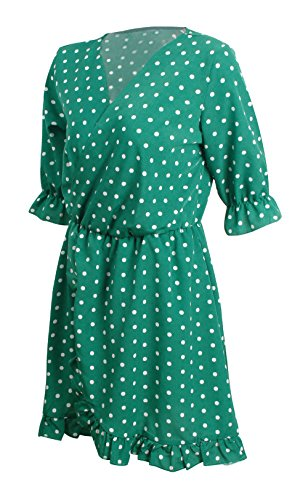 Sommer Damen Kurz Kleid Mode Lotusblatt Seite Irregulär Gepunktet ...