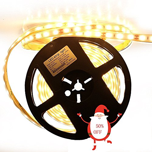 Lightimetunnel LED Strip Lights Waterproof 300 Units SMD 2835 12V 3000K Warm White - Accent 12v Accent