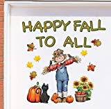 new years garage magnets - Tuweep Happy Fall Harvest Scarecrow Garage Door Magnets Autumn Thanksgiving Decoration Yard Decor Accent