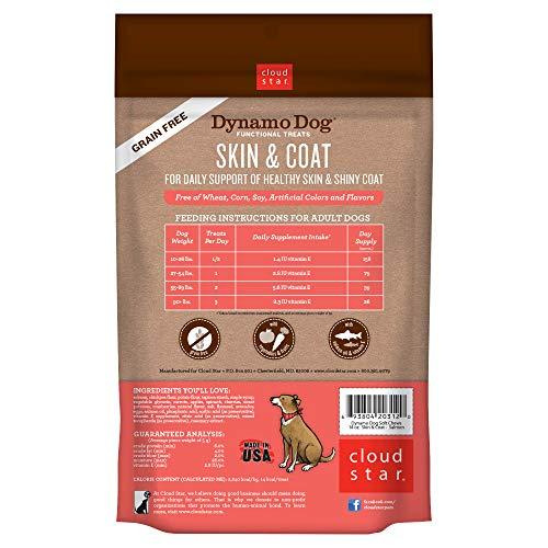 Cloud Star Dynamo Dog Functional Soft Chews: Skin & Coat - Salmon - 14 oz