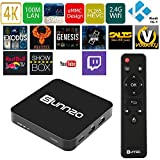 SUNNZO Android 5.1 unlocked smart TV BOX with Full loaded KODI 1080P 4K Mini Streaming Media Player with Amlogic S905 Quad Core ,1GRom/8G eMMC +wifi and Optical Audio compatible