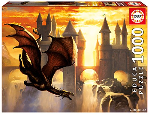 Educa Children's 1000 Sunset Dragon Ciruelo Puzzle (Piece)