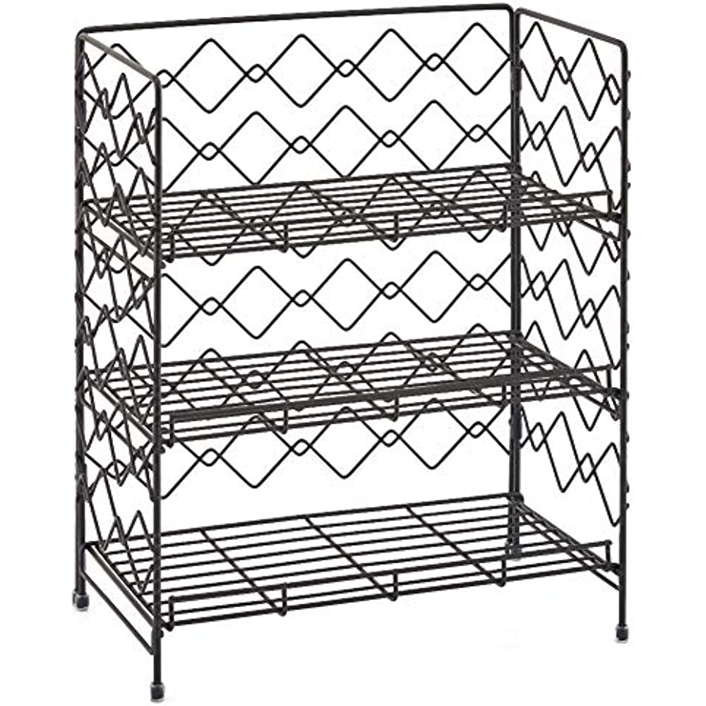 spice racks 3 tier anizer rack wire basket storage container Floor Storage Bins 3 tier anizer rack ezoware wire basket storage container countertop shelf for kitchenware bathroom cans foods spice office and more black kitchen
