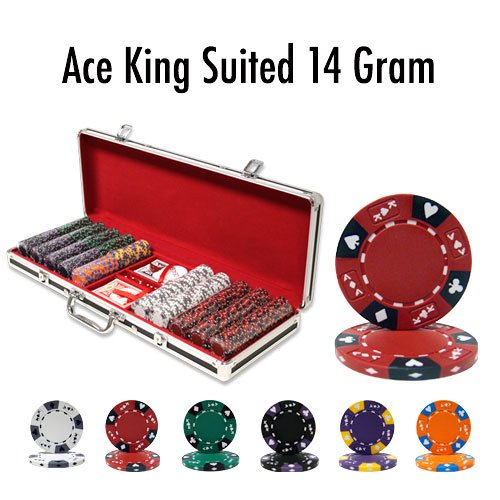 (Brybelly Holdings PCS-2803B 500 Ct - Pre-Packaged - Ace King Suited 14 G Black Aluminum)