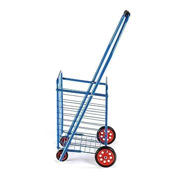 FANG Carritos de la Compra Carrito de Compras Supermercado Plegable Multifuncional Ocio Escalada Carro de Doble Uso Carrito Más Viejo Cesta de la Compra ...