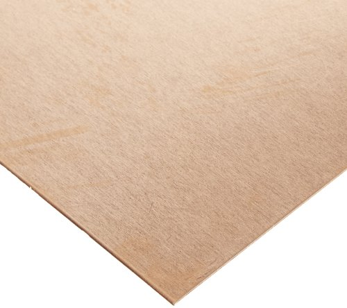 """101 Copper Sheet, Unpolished (Mill) Finish, H00 to H01 Temper, Meets ASTM B152, 0.032"""" Thickness, 6"""" Width, 6"""" Length"""
