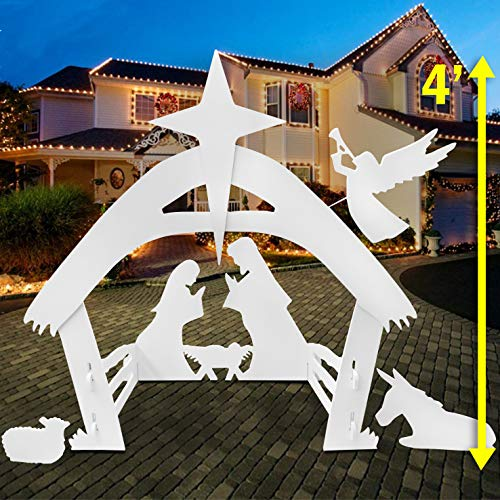EasyGoProducts Outdoor Nativity Scene Set Decoration-Christmas Yard, 4 Foot Tall from EasyGoProducts