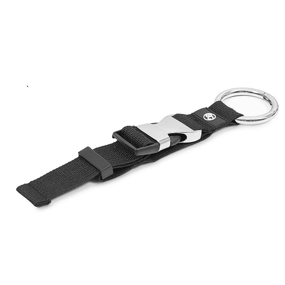 achilles Jacken-Halter für Jacken Einkaufstüten UVM. Größenverstellbar 33 cm Gurtlänge, schwarz mit silberner Metall Schnalle AD290