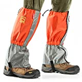 AOTU Outdoor Water-Proof/Wind-Proof Gaiters Leg Protection Guard for Skiing, Hiking, Climbing, Mountaineering, Orange