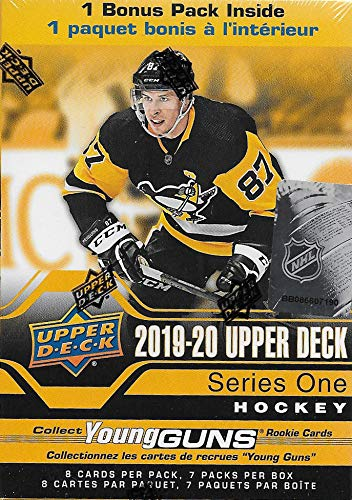 2019 Upper Deck Star - 2019 2020 Upper Deck Hockey Series One Factory Sealed Unopened Blaster Box of 8 Packs Possible Young Guns Rookies and Jerseys