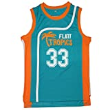 Yeee JPEglN Moon 33 Flint Tropics Basketball Men Jersey S-XXXL Green