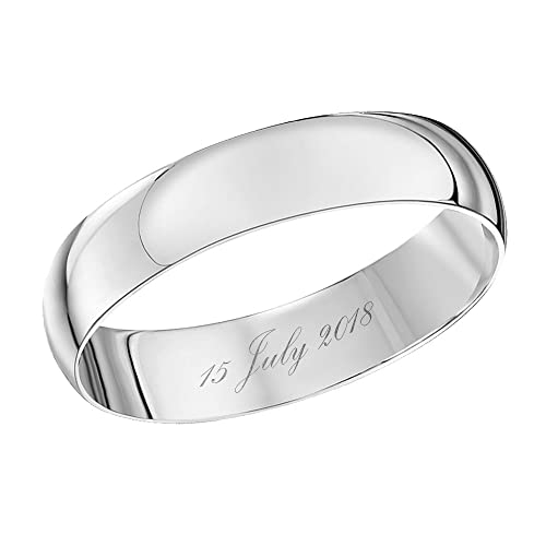 Theia Anillo de Boda Unisex oro blanco - TH22003