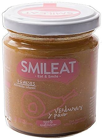 Tarrito de Pavo con Verduras Ecologico Smileat +6M (230 gr): Amazon.es: Salud y cuidado personal