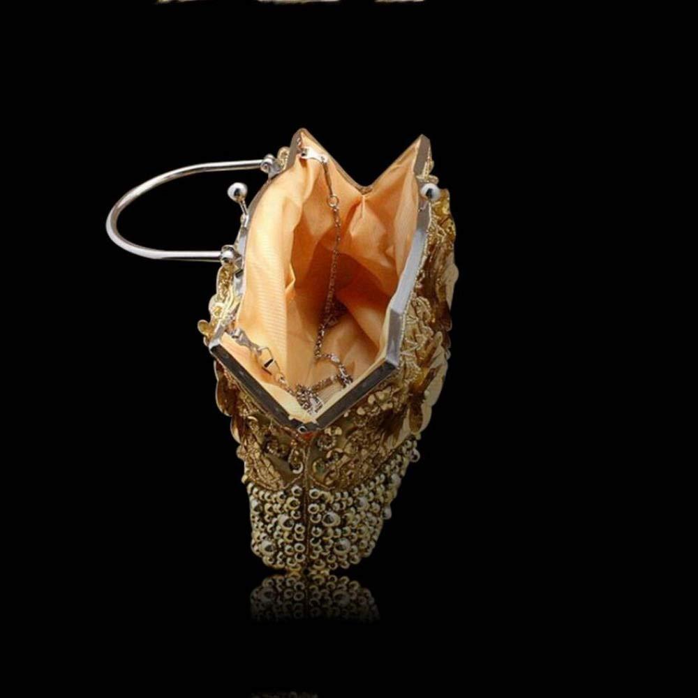 WYGmadlifeqq Damen Vintage Handschlaufe Fashion Dinner Dinner Dinner Bag Dress Bag (Farbe   Rot, größe   OneGröße) B07NN74P94 Clutches Schön und charmant 183187