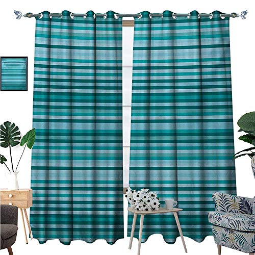 Streaks Basketball Silver (Striped Blackout Window Curtain Long Narrow Linear Bands Modern Streaks Design Geometric Grids Graphic Print Customized Curtains W72 x L96 Teal Navy Blue)