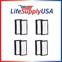 4 Packs of 2 HEPA Replacement Filters for Alen air TF30 for T100 and T300 Air Purifiers by LifeSupplyUSA