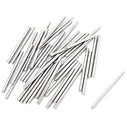 40pcs 1.6mm 2.5cm Dia largos de acero inoxidable barras ...