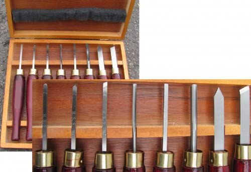 Ciseaux à bois Gouges et ciseaux pour tour à bois lots de 5 Güde G55101