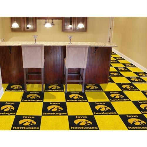 Iowa Hawkeyes NCAA Team Logo Carpet Tiles by Fanmats