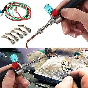 Boomder Kit de pistola de soldadura Micro Mini Gas Little Torch para soldar con 5 puntas