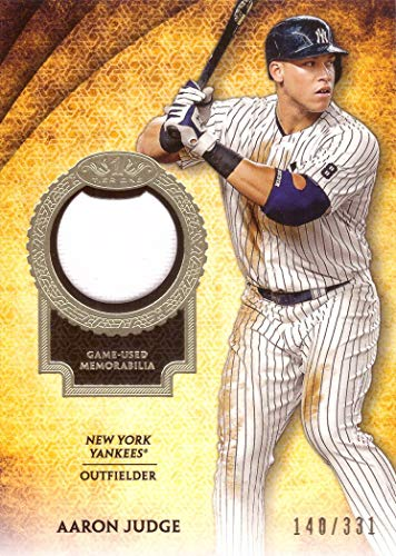 2017 Topps Tier One Relics #T1R-AJ Aaron Judge New York Yankees Game Worn Jersey Baseball Card from Rookie Season - Only 331 made! ()