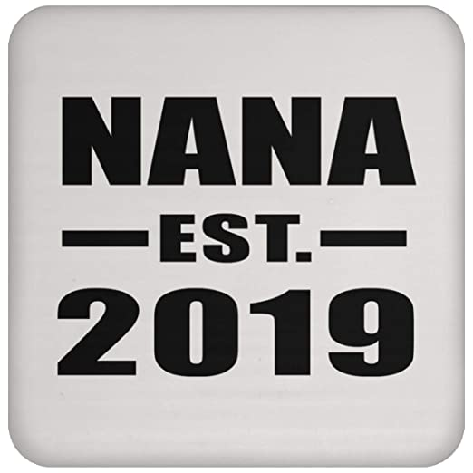 Nana Established EST. 2019 - Drink Coaster Posavasos para ...