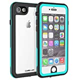 CellEver iPhone 6 / 6s Clear Case Waterproof Shock Absorbing IP68 Certified SandProof Snowproof Full Body Protective Transparent Cover Fits Apple iPhone 6 and iPhone 6s (4.7') KZ Ocean Blue