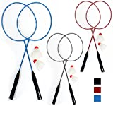 2 Badminton Rackets Tennis Set Trainning 2 Shuttlecocks Birdies Ball Sport Game