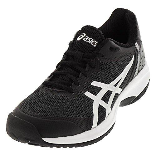 ASICS E800N Mens Gel-Court Speed Shoe Black/Silver/White