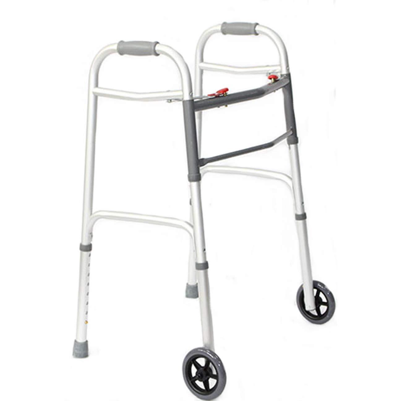 【日本産】 高齢者の歩行者 (設計、折畳みアルミ構造の歩行歩行器、2キャスターを持っているリハビリ歩行者を支援する :、マルチスタイルのオプション (設計 : B) B) B B07L8BY4LY, シルバーカーと車椅子の店YUA:f293af4b --- a0267596.xsph.ru