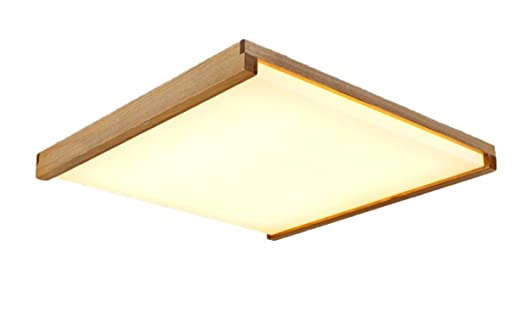Wohnzimmerlampe Decke Modell : Deckenleuchte holz lampe quadratisch warmweiß licht holzlampe