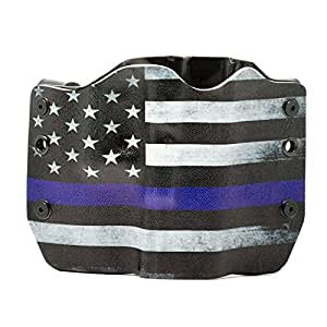 Thin Blue Line OWB Holster (Left-Hand, 1911 - 22/380 cal Small Frame)